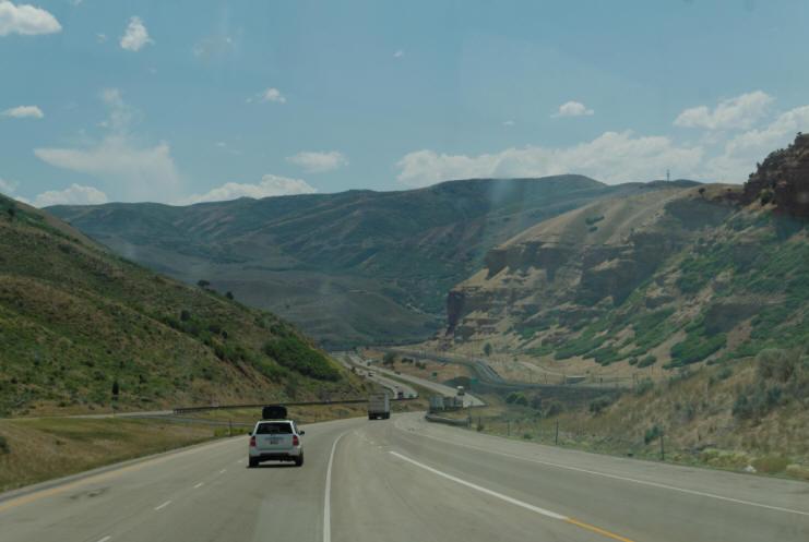 Interstate 80 in Salt Lake City, Utah - YouTube